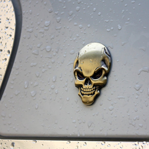 3D Skull Motorcycle And Car Decal