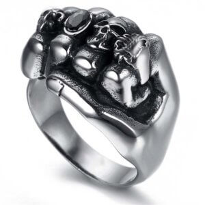 Biker Anarchy Ring
