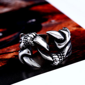 Gothic Dragon Claw Ring