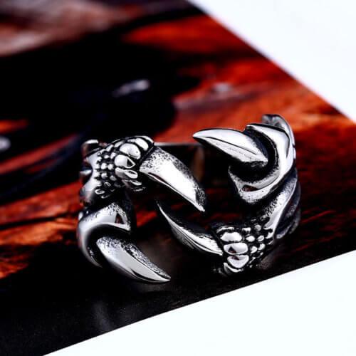 Gothic Dragon Claw Ring