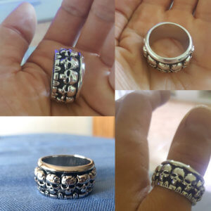 Gothic Punk Skulls Ring