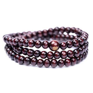 Natural Sandalwood Meditation Bracelet Red