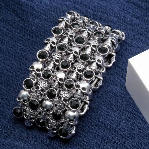 Skulls Bead Bracelet