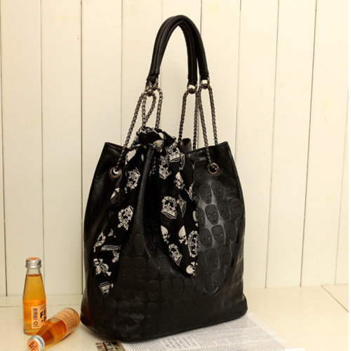 Adley Skull Tote Bag With Hand Bag