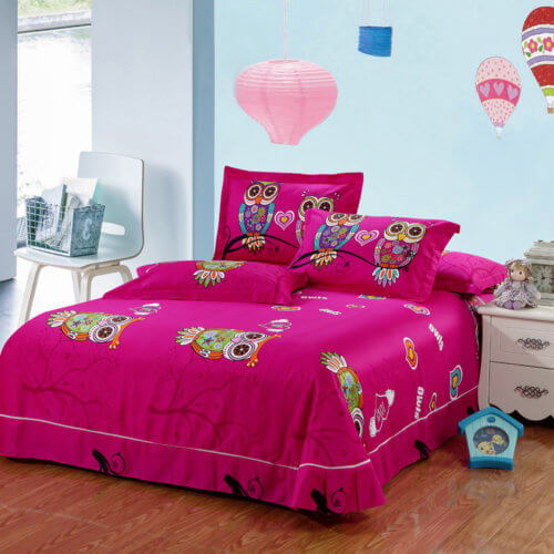 Kids Owl Bedding Set