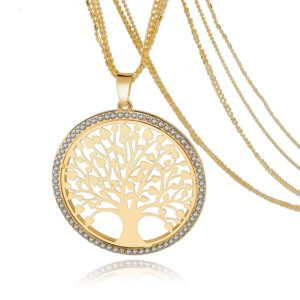 LongWay Tree Of Life Necklace Gold