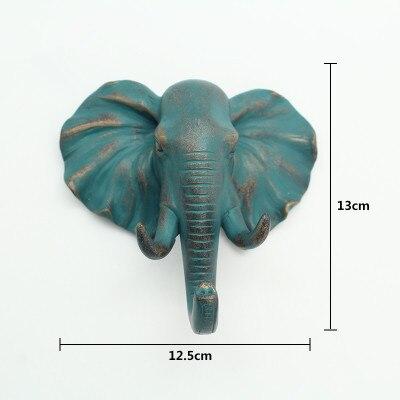 Elephant Wall Hook Blue