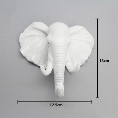Elephant Wall Hook White