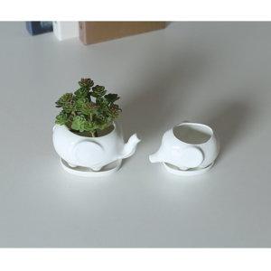 Mini Ceramic Elephant Planter