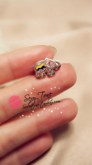 Valentine Titanium Elephant Earrings