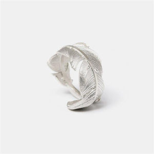 925 Sterling Silver Feather Ring