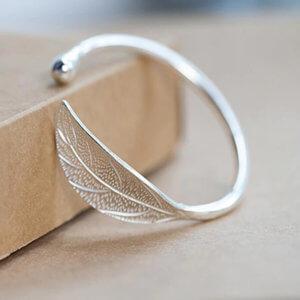 Open Leaf Cuff Bangle