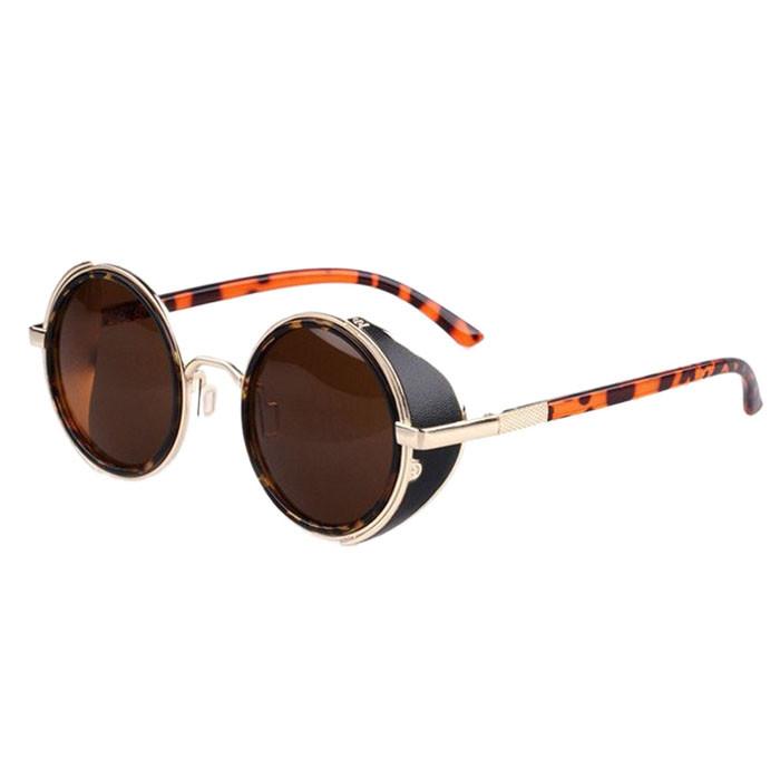 Steampunk Round Cyber Goggles Sunglasses