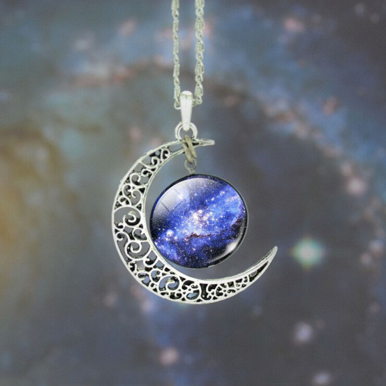 Moon And Beyond Glass Pendant