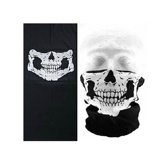 ★ FREE ★ Biker Gear: Skull Face Riding Mask - Biker Balaclava Mask
