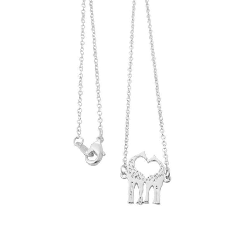 Giraffes Hugging And Kissing - Giraffes Necklace