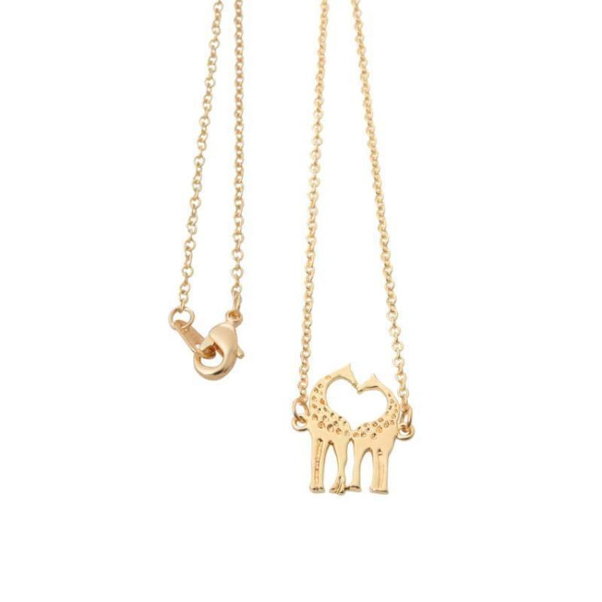 Giraffes Hugging And Kissing - Giraffes Necklace