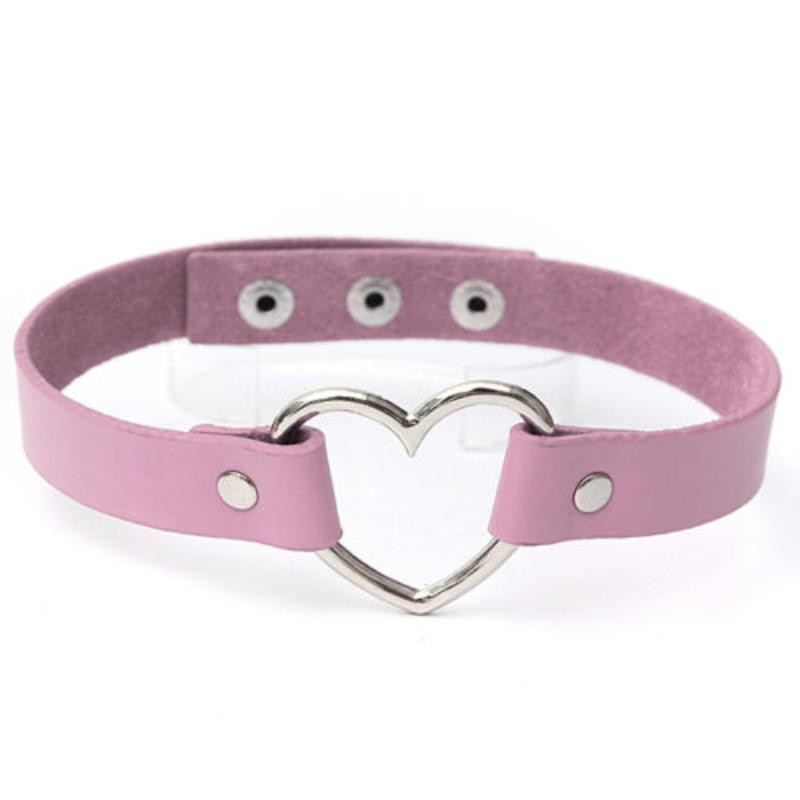 Steampunk Handmade Leather Collar Choker Necklace