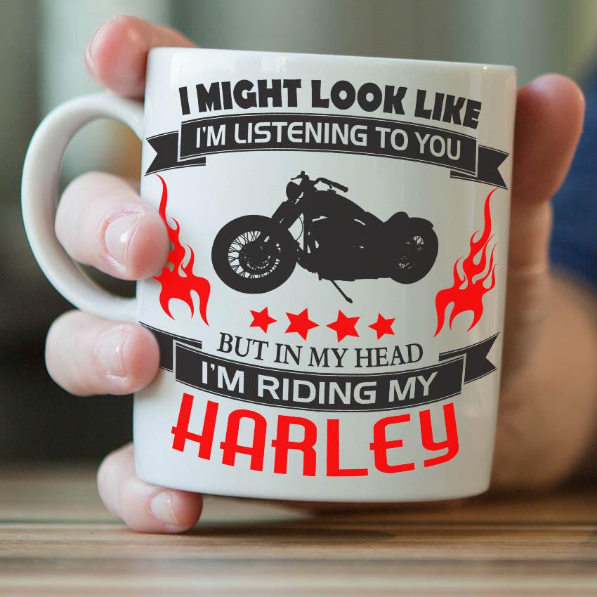 """I Might Look Like I'm Listening To You"" Harley Mug"