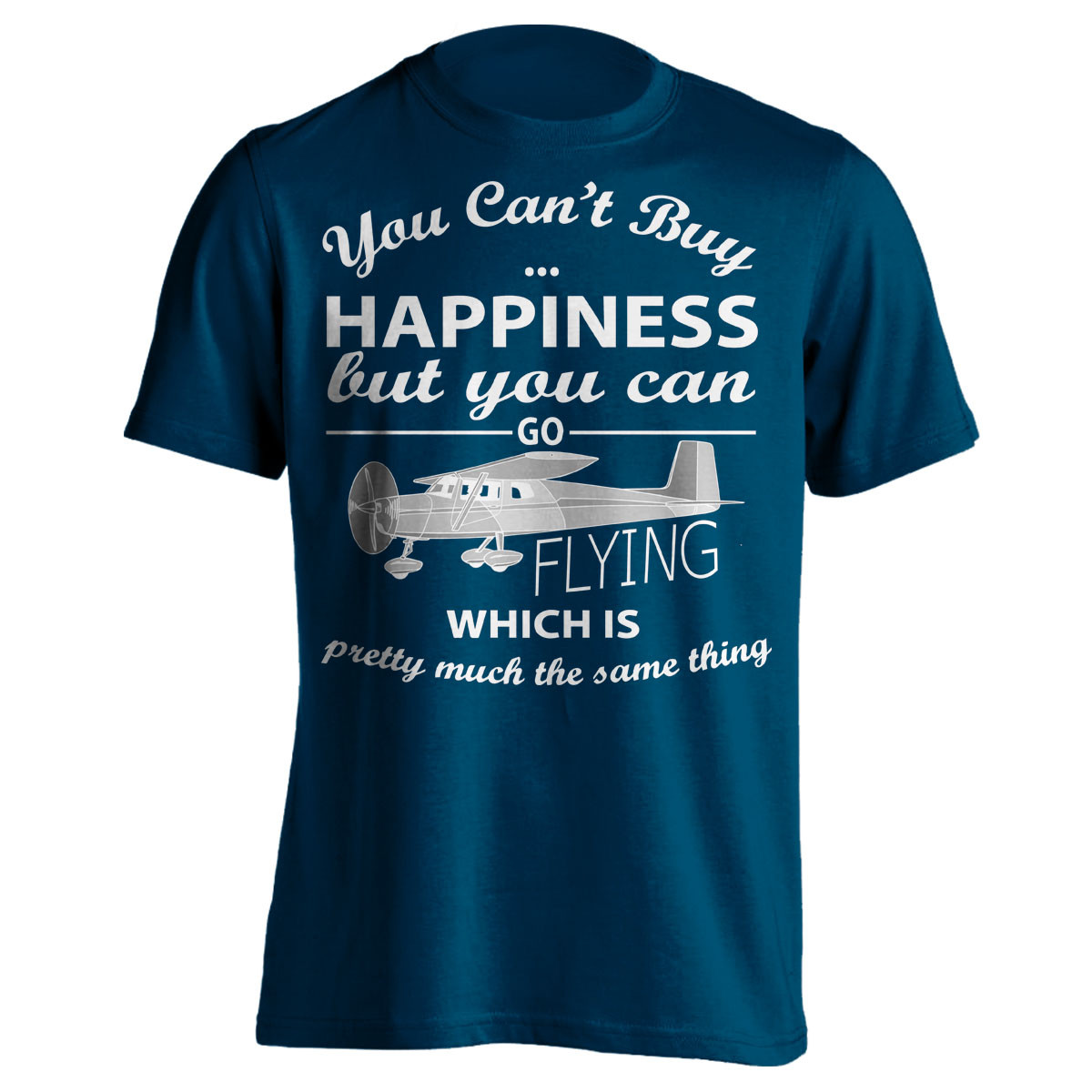 """You Can't Buy Happiness"" Flying T-Shirt"