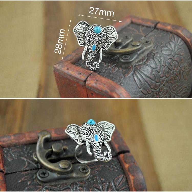 Boho Elephant Ring
