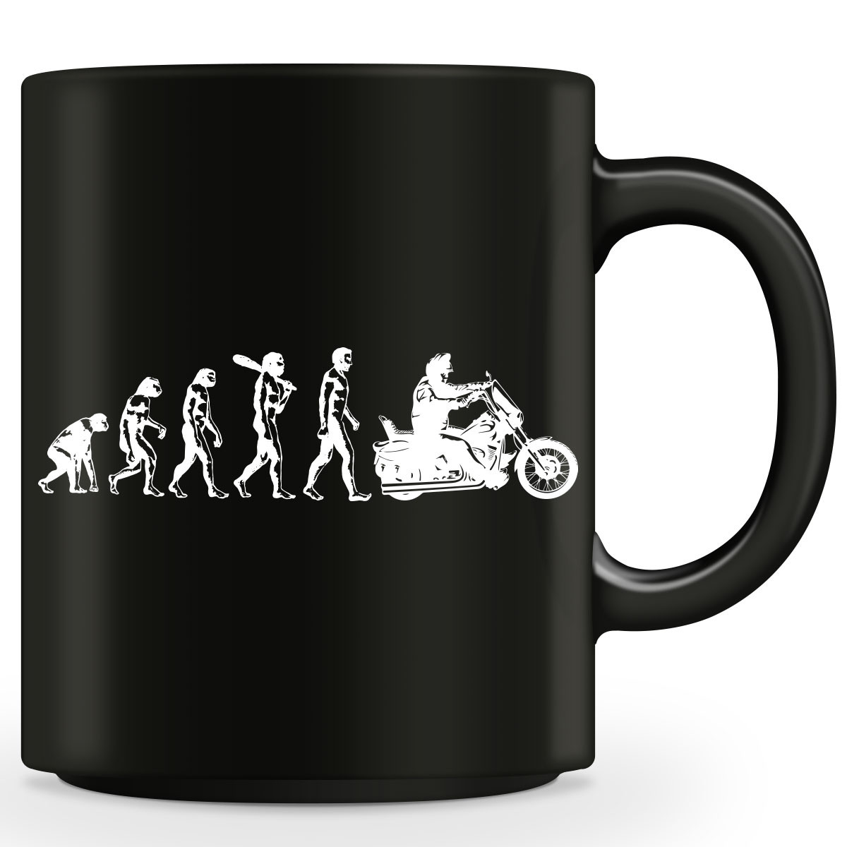 Human Evolution Harley Mug