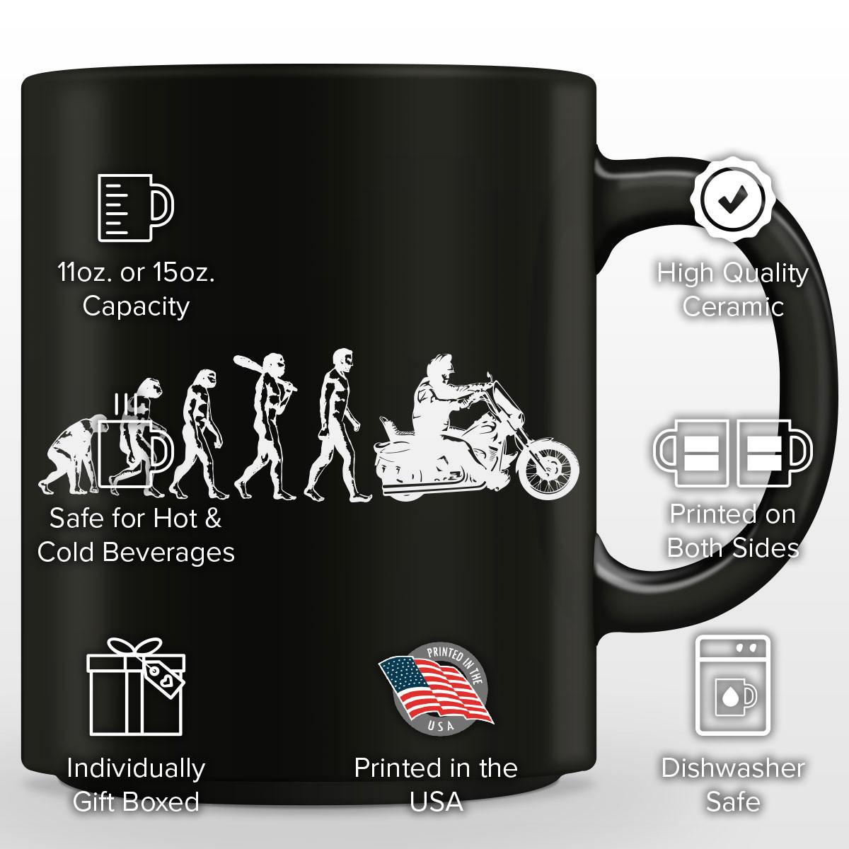 Human Evolution Harley Mug