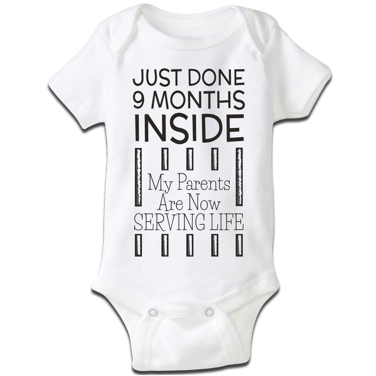 """Just Done 9 Months Inside..."" Baby Grow"