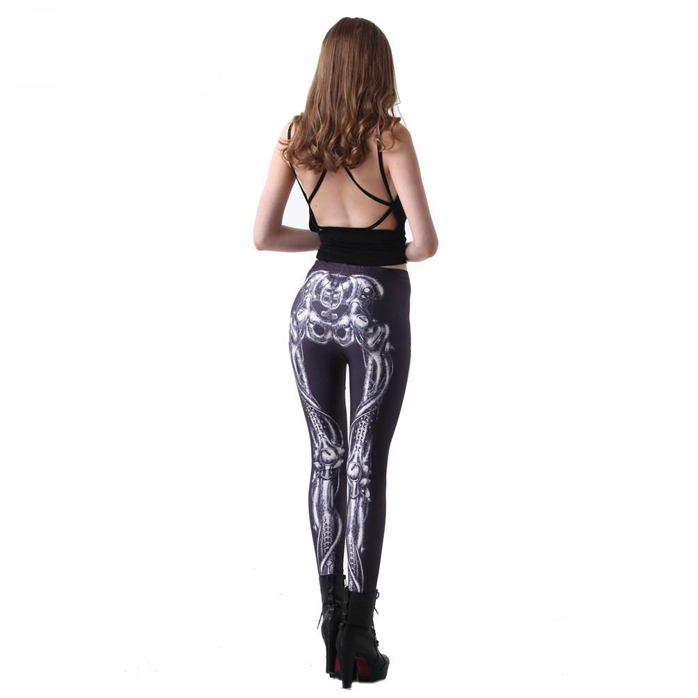 Bones Black Steampunk Leggings