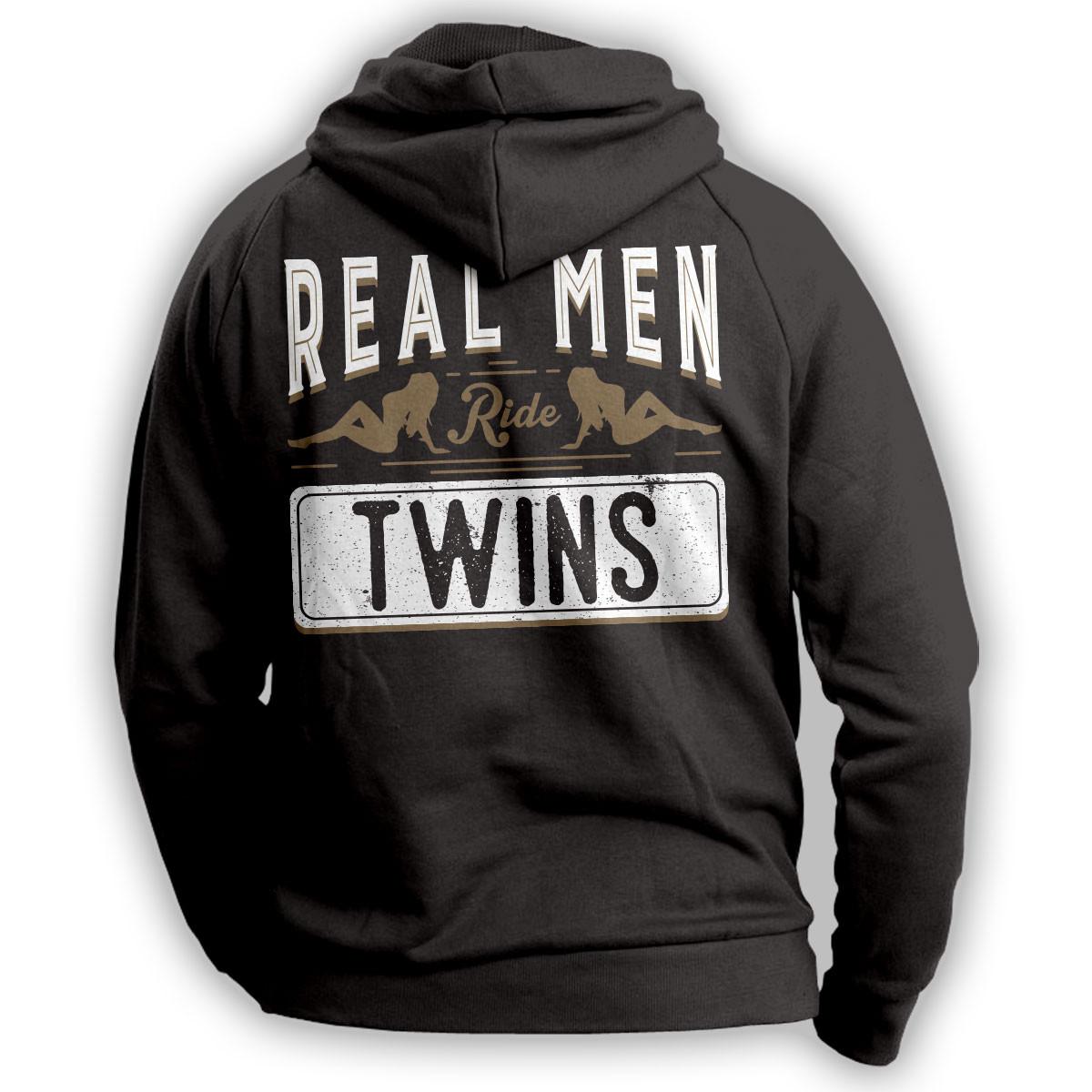 Real Men Ride Twins Hoodie