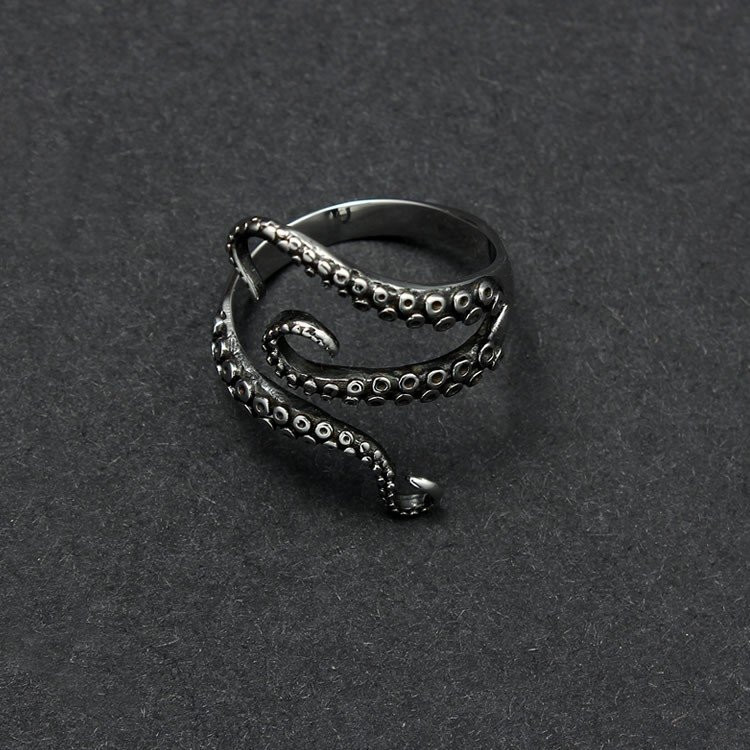 Gothic Octopus Finger Ring