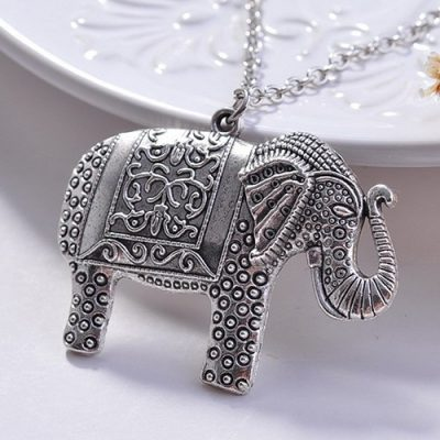 Alloy Elephant Necklace