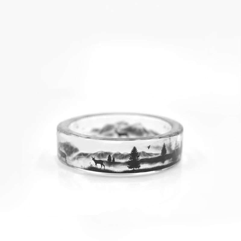 Transparent Punk Deer Ring