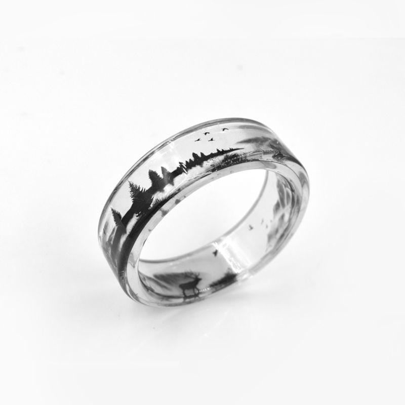 Transparent Punk Deer Ring