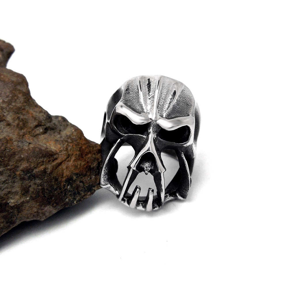 Retro Punk Skull Ring