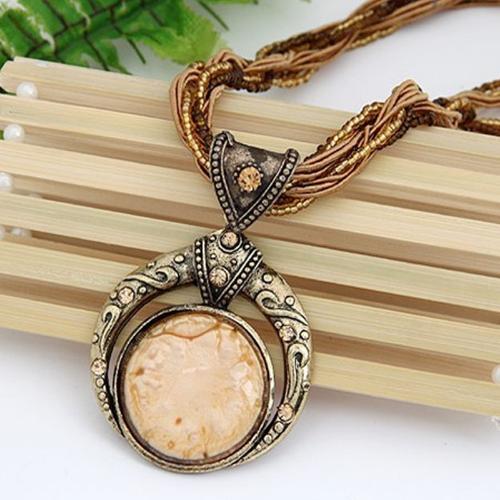 ★ FREE ★ - Bohemian Full Moon Beaded Chain Necklace