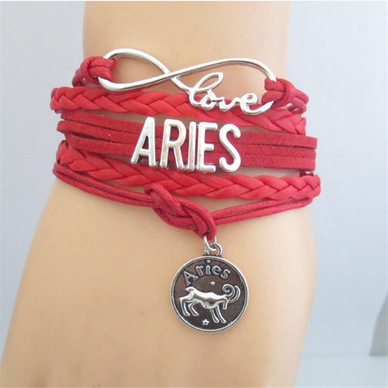 Zodiac Signs Infinity Bracelet