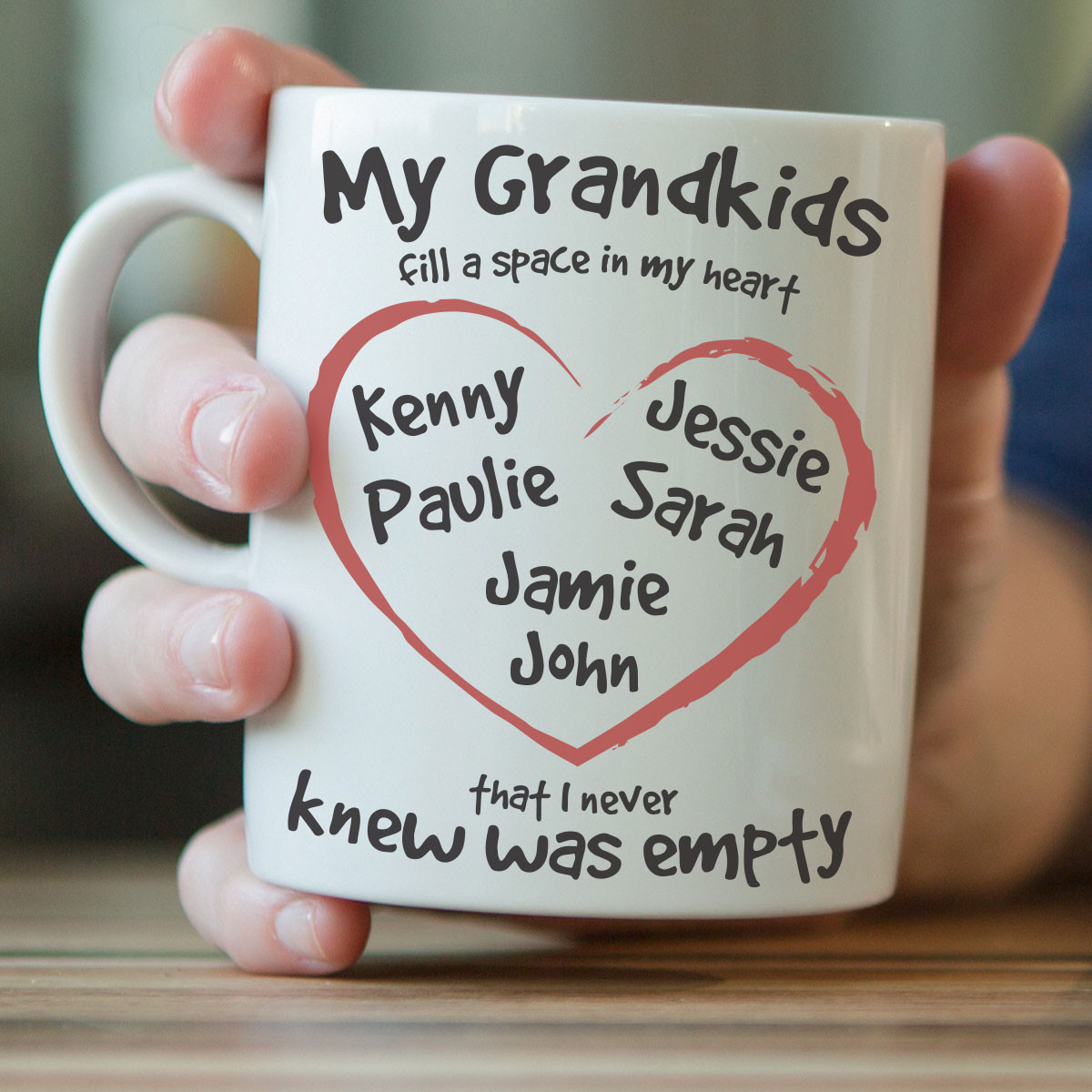 ''My Grandkids Fill A Space In My Heart'' Mug