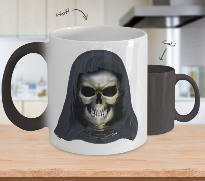 Color Changing Skull Mug