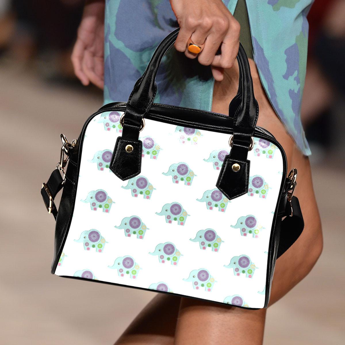 Elephant Pattern Shoulder Handbag