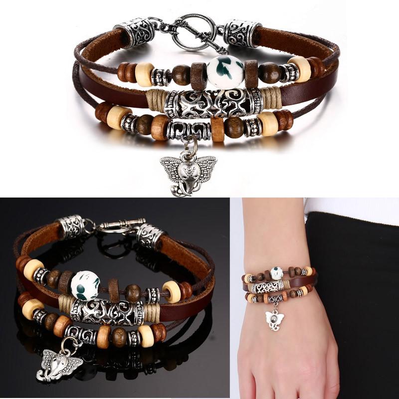 Elephant Leather Bracelet