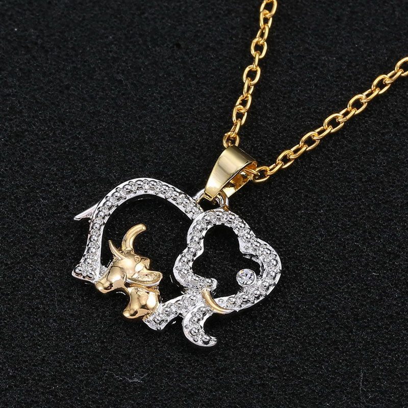 Baby Elephant With Mom Necklace
